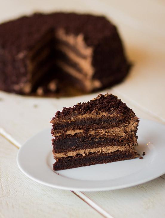 Chocolade-fudgetaart